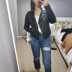 Jackets & Blazers - Faux Leather Moto Jacket